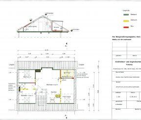 Grundriss Schnitt Umbau Dachgeschoss Architekturbüro Trawny Oliver Trawny