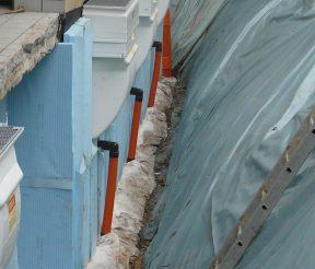 Kiespackung Filtervlies Bauleitung Entwaesserung Trawny